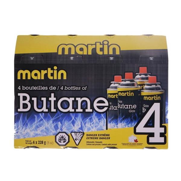Martin - Paquet de 4 bouteilles de butane