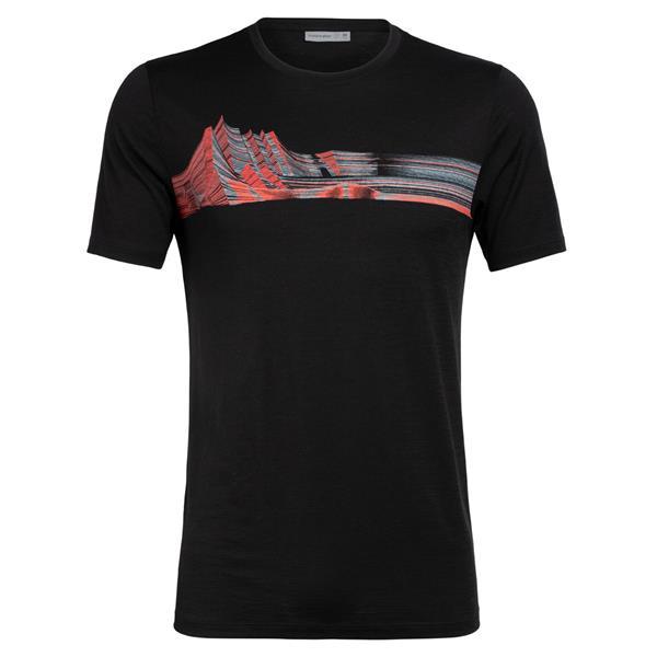 Icebreaker - T-shirt Tech Lite Mont Blanc Moiré pour homme