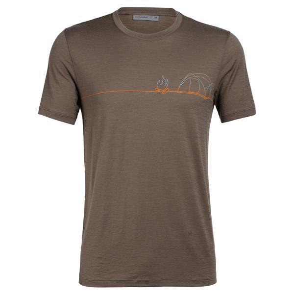 Icebreaker - T-shirt Tech Lite Single Line Camp pour homme