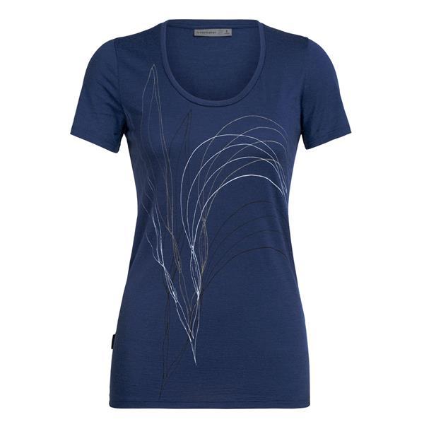 Icebreaker - T-shirt Tech Lite Scoop Leaf pour femme