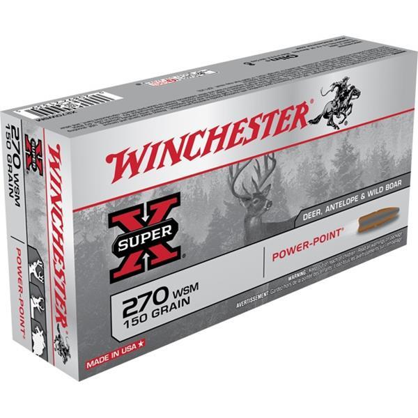 Winchester - Balles Super X .270 WSM 150gr