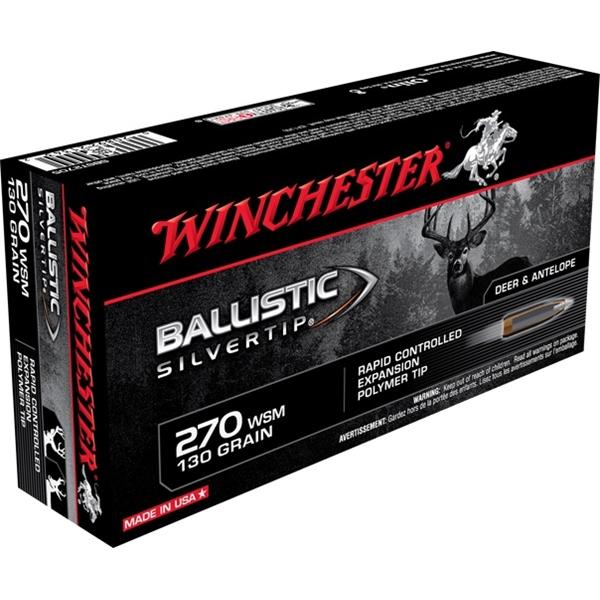 Winchester - Balles Ballistic Silvertip .270 WSM 130gr