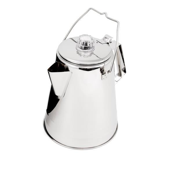 GSI - Percolateur 14 tasses en acier inoxydable Glacier