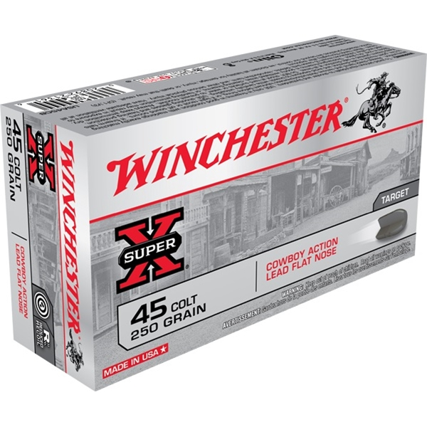 Winchester - .45 Colt 250gr Lead Ammunition