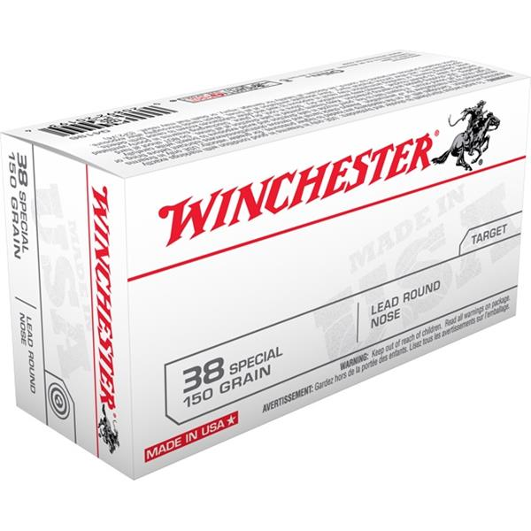 Winchester - Balles Pistol .38 Special 150gr