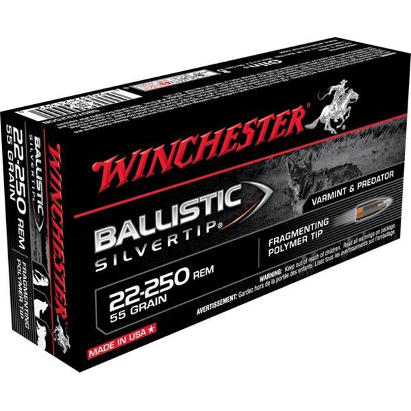 Winchester - Balles Ballistic Silvertip .22-250 Remington 55gr