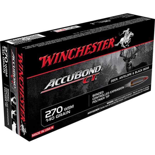 Winchester - Balles Accubond CT .270 WSM 140gr