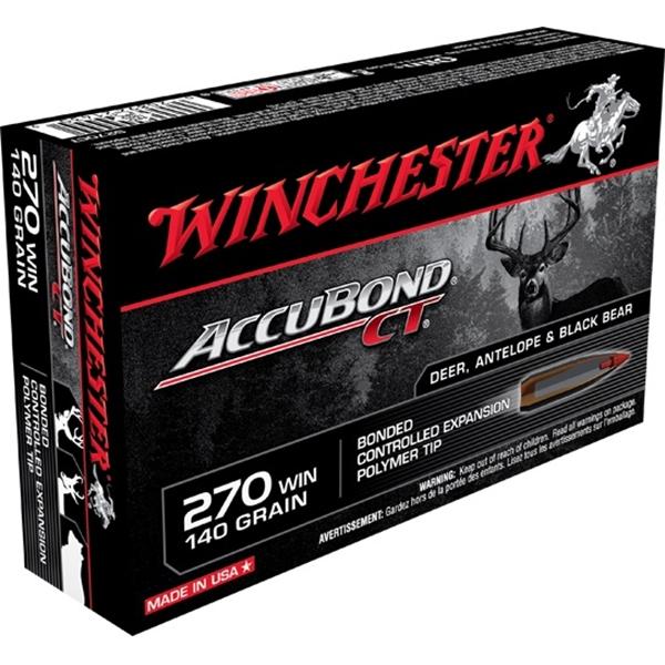 Winchester - Balles Accubond CT .270 WIN 140gr