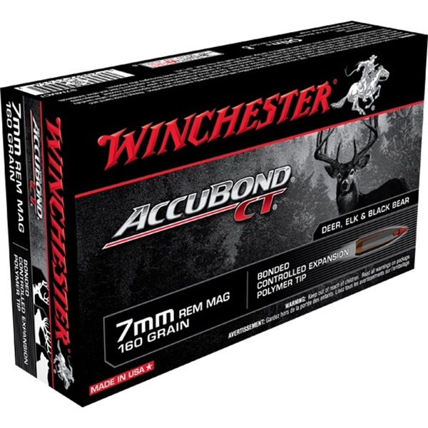 Winchester - Balles Accubond CT 7mm Remington Magnum 160gr