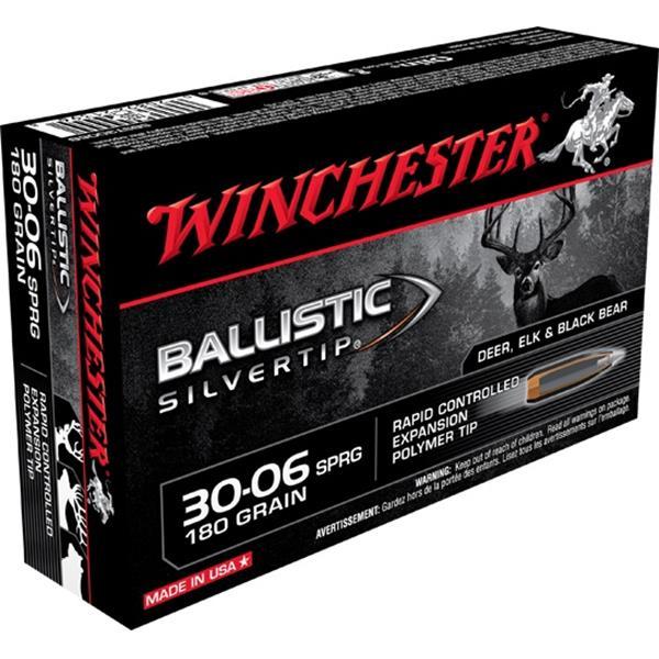 Winchester - Balles Ballistic Silvertip 30-06 Springfield 180gr