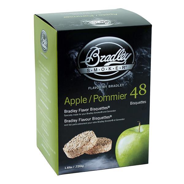 Bradley Smoker - Paquet de 48 bisquettes pour fumage à saveur de pomme