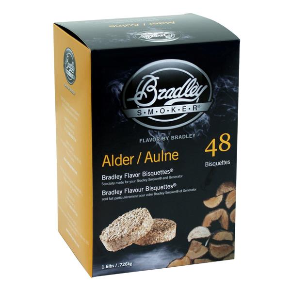 Bradley Smoker - Paquet de 48 bisquettes pour fumage à saveur d'aulne