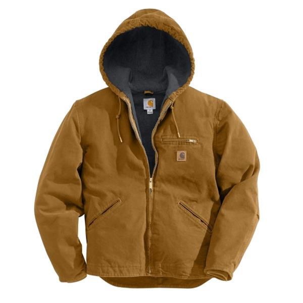 Carhartt - Men's Sherpa lined Sandstone Sierra Jacket