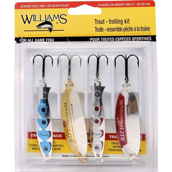 Williams - Ensemble de cuillères pour pêche à la traîne 4-TTK