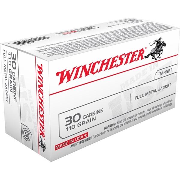 Winchester - Balles Full Metal Jacket .30 Carbine 110gr