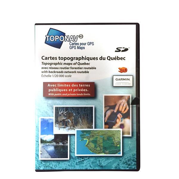 Toponav - Cartes topographiques du Québec (SD)