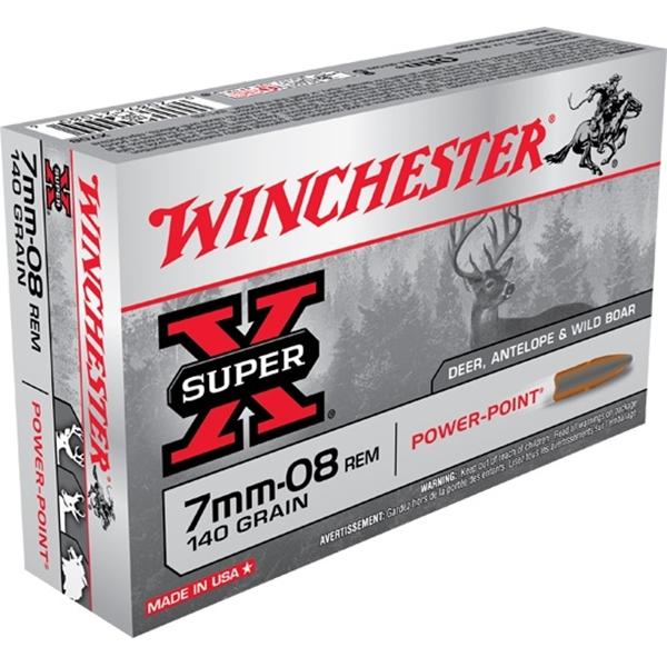 Winchester - Balles Super X 7mm-08 140gr