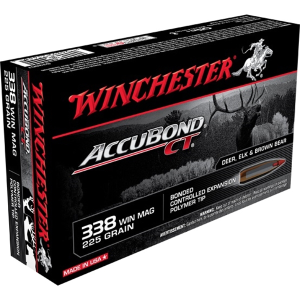 Winchester - Balles Accubond CT .338 WIN MAG 225gr
