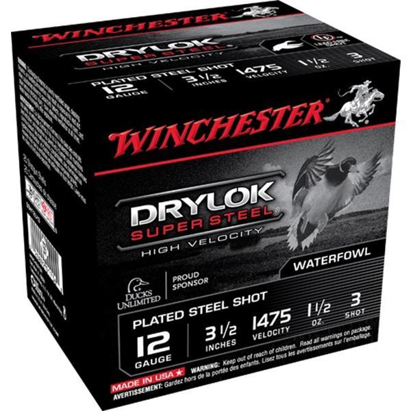 "Winchester - Cartouches Drylok Super Steel 12 Ga 3 1/2"" #3"