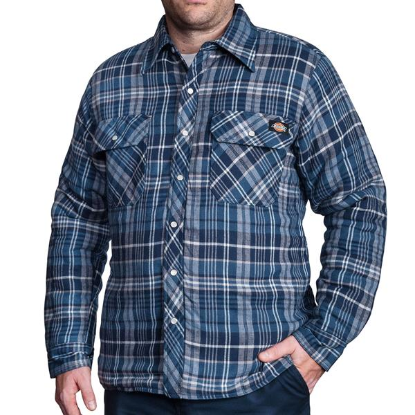 Dickies - Quilted Snap front Plaid Shirt