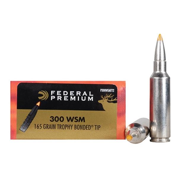 300 WSM 165gr Trophy Bonded Tip Ammunition