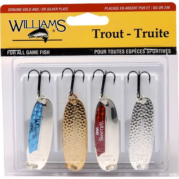 Williams - Ensemble de cuillères pour truite 4-TK