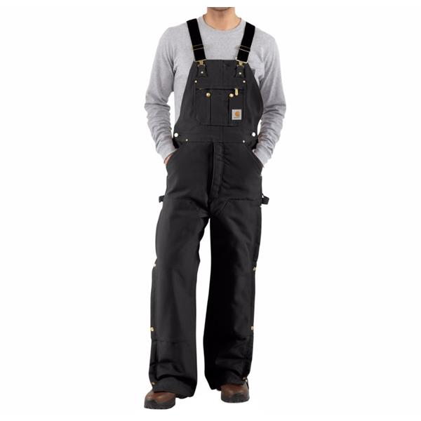 Carhartt - Men's Duck Zip-to-Thigh Bib Overall / Quilt lined