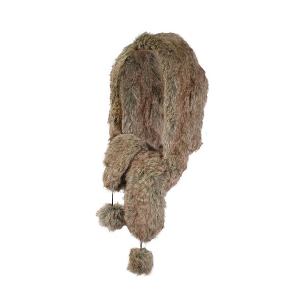 GKS - Combiné capuche et foulard en fourrure synthétique