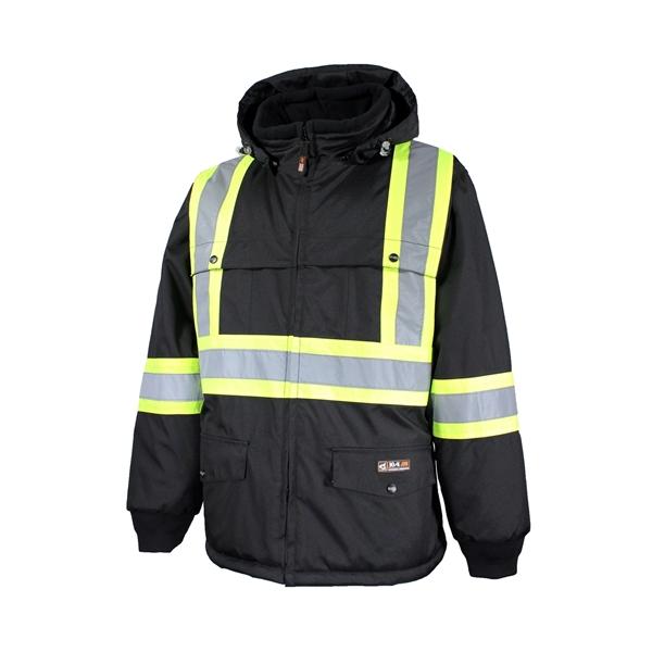 10/4 Job - Manteau de travail doublé avec bandes réfléchissantes pour homme