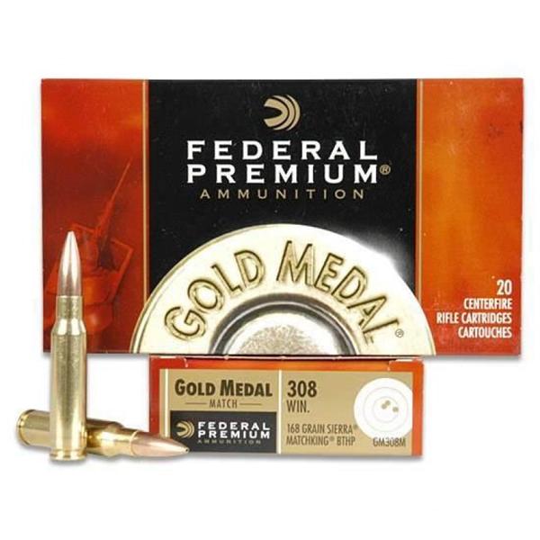308 WIN 168gr Gold Medal Sierra MatchKing Ammunition
