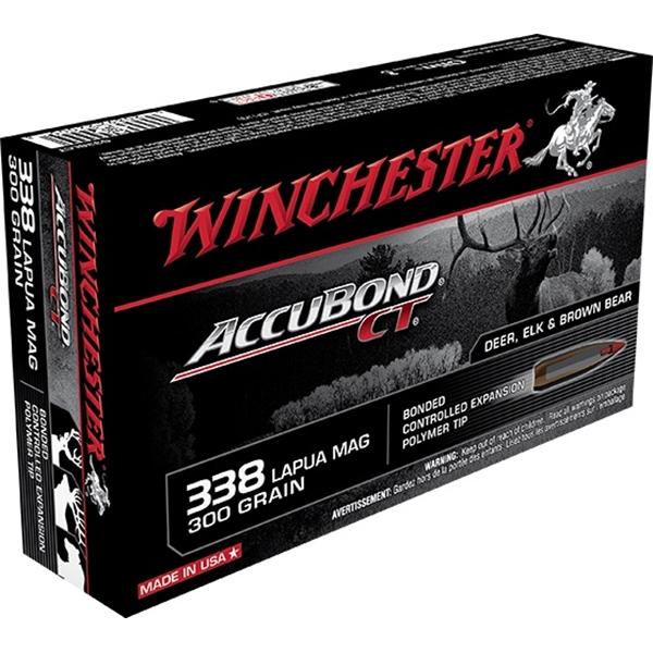 Winchester - Balles Accubond CT .338 Lapua Magnum 300gr