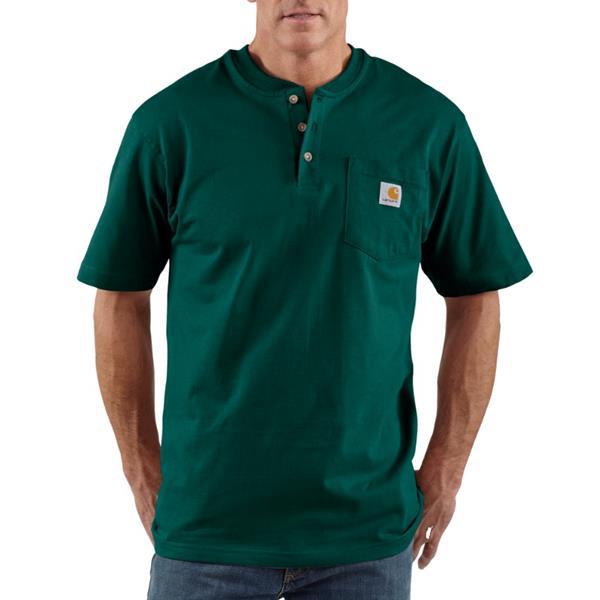 Carhartt - T-shirt de travail Henley pour homme