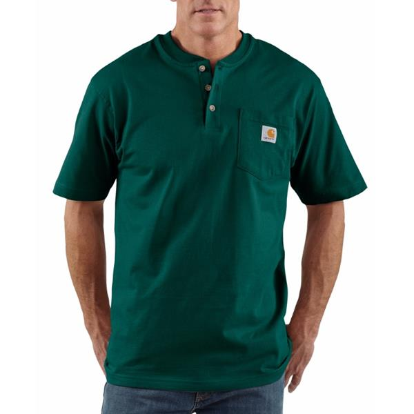 Carhartt - Men's Henley Short Sleeve Workwear