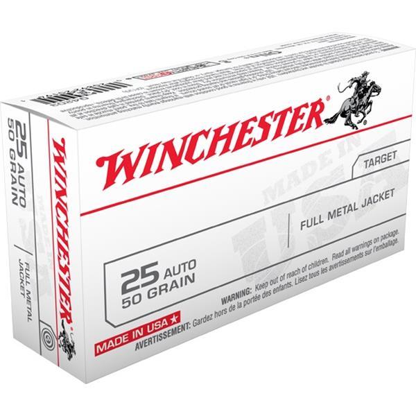 Winchester - Balles Full Metal Jacket .25 ACP 25gr