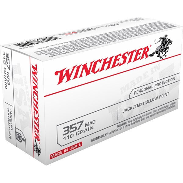 Winchester - Balles Jacketed Hollow Point .357 MAG 110gr