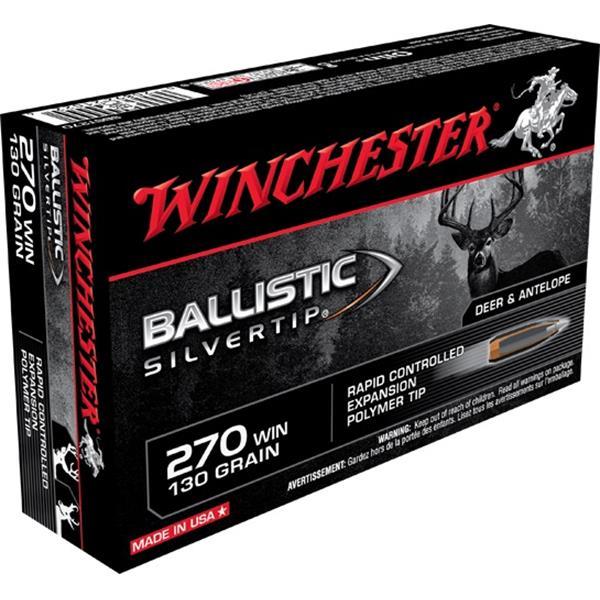 Winchester - Balles Ballistic Silvertip 270 Winchester 130gr