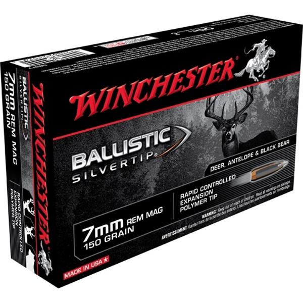 Winchester - Balles Ballistic Silvertip 7mm Remington Magnum 150gr