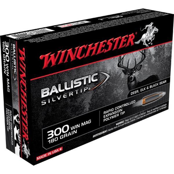 Winchester - .300 WIN MAG 180gr Ballistic Silvertip Ammunition