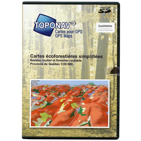 Toponav - Cartes écoforestières simplifiées 3D pour GPS (SD)