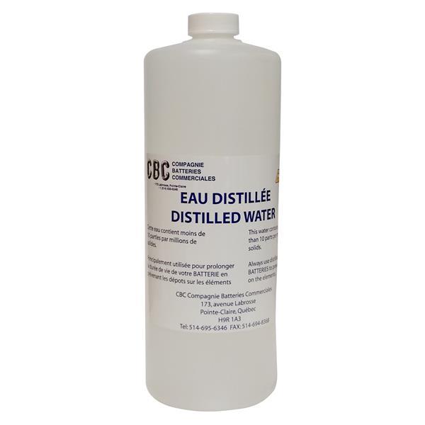 Compagnie de batteries commerciales - 1 L Distilled Water