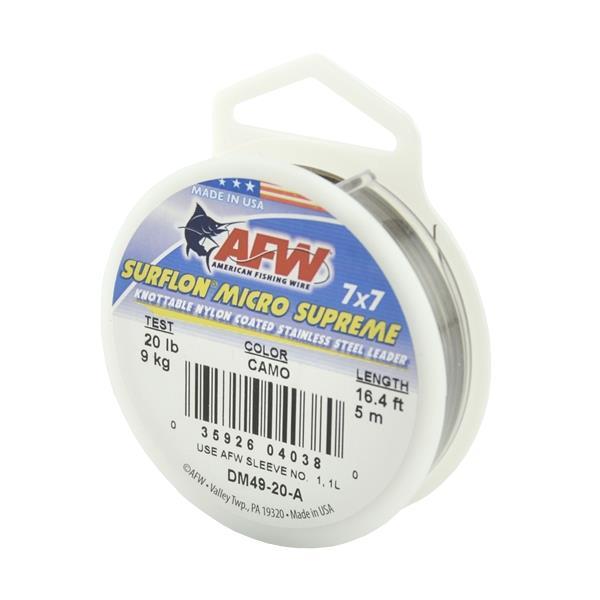 American Fishing Wire - 16.4 ft Surflon Micro Supreme Fishing Line