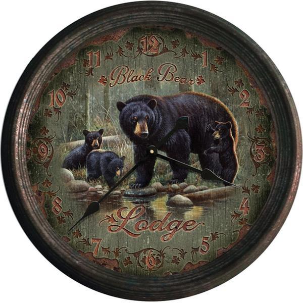 Rivers Edge Products - Black Bear Lodge Clock