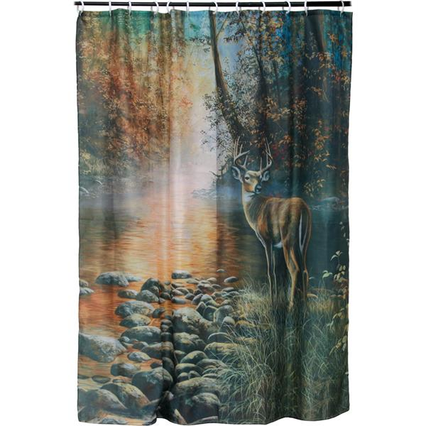Rivers Edge Products - Shower Curtain with Deer