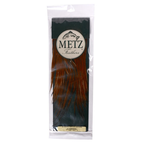 Metz Feathers - Cock Brown Natural Saddle