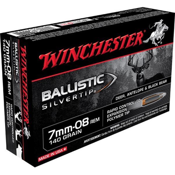Winchester - Balles Ballistic Silvertip 7mm-08 140gr