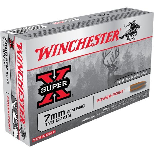 Winchester - 7mm REM MAG 175gr Super X Ammunition