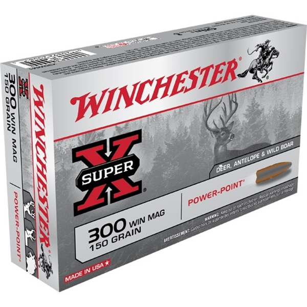 Winchester - Balles Super X .300 WIN MAG 150gr
