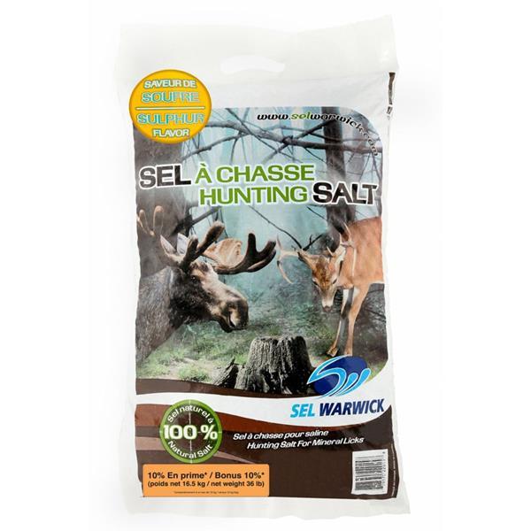 Sel Warwick - Sel de chasse à saveur de soufre de 15 kg