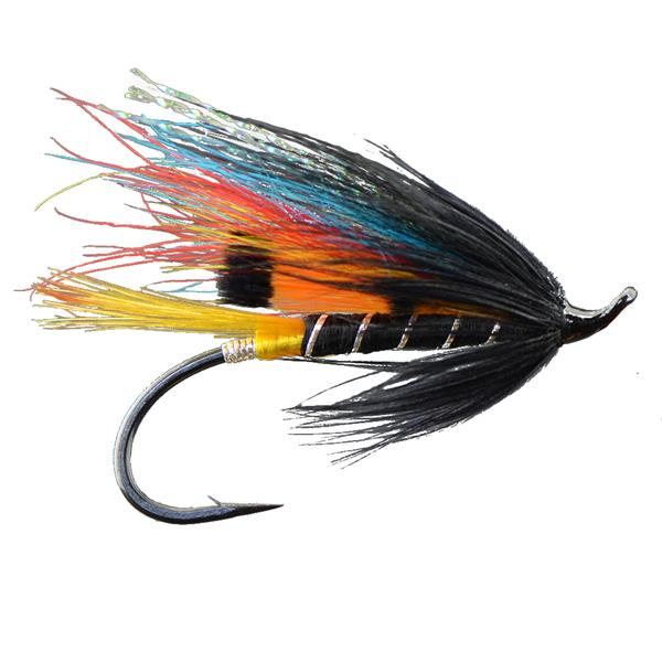 Gaspé Fly - Black Dose Single Hook Salmon Fly