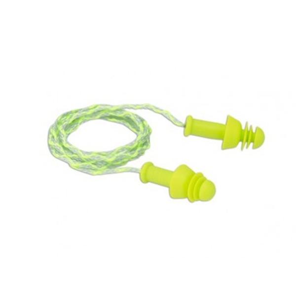 Dynamic Safety - Bouchons réutilisables Comfort-Fit NP104C avec corde